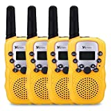 YETION 4 Pack Kids Walkie Talkies Two Way Radios Long Range Distance 22 Channel Clear Sound Toy Walky Talky for Christmas/Birthday Gift