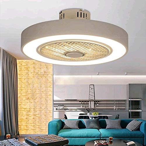 Luces de ventilador de techo, luces de techo LED regulables, Luces de techo invisibles silenciosas, Lámparas de techo de crianza de la habitación de la sala de estar
