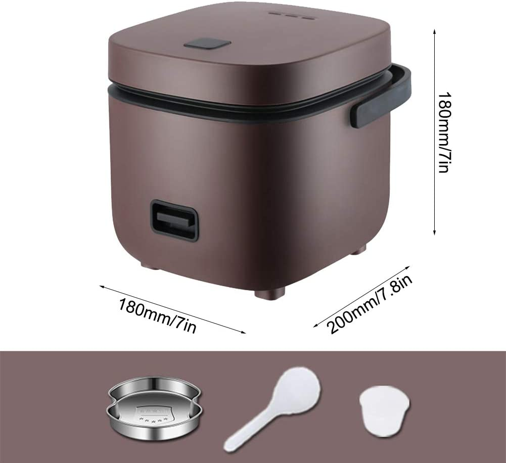for 2-4 People,Brown Nonstick Keep Warm Electric Rice Cooker with Steam /& Rinse Basket 15 Minutes Fast Cooking Re-Heating TYI -1.2L Portable Mini Rice Cooker