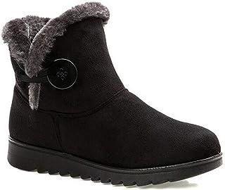 ea3547eb 2018 Zapatos Invierno Mujer Botas de Nieve Casual Calzado Piel Forradas  Calientes Planas Outdoor Boots Antideslizante