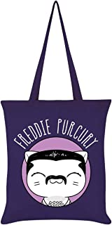 V. I. Pets Freddie Purcury Tote Bag Purple 38 x 42cm
