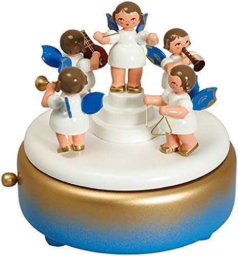 venta caliente Caja de música - - - caja de música del ángel azul 13.5 cm NUEVA  Disfruta de un 50% de descuento.
