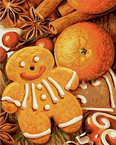 Pintura por Número De Kit, DIY Pintura Al Óleo Dibujo ,De Los Árboles Lienzo con Pinceles Decoración De Navidad Decoraciones Regaloslindos Pasteles Gourmet Sin Marco