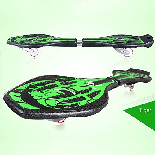 LHHZAL Caster Board, Kids Skateboard Street Surfing Wave Caster Board with PU Flash Wheels Caster 2-Wheeled Boards Wave Board for Adults and Kids,E