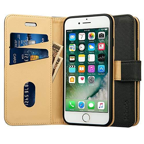 【Amazon限定ブランド】Labato iphone8 ケース 手帳型 iPhone SE2 ケース iphone7ケース 手帳型 あいふぉん8ケース 人気 カード収納 スタンド PUレザー スマホケース8 (iphone8,ブラック)