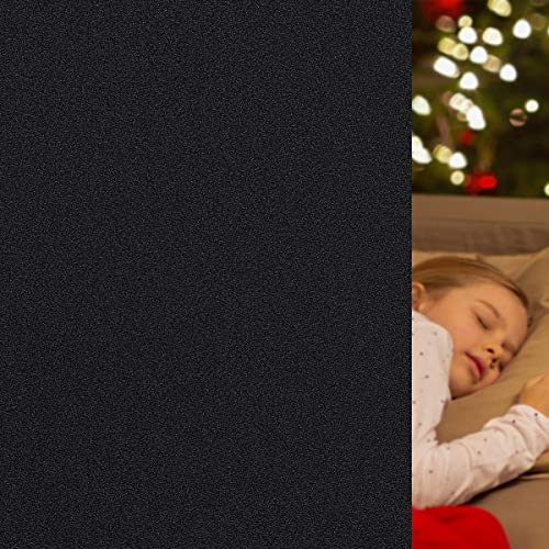 "Blackout Window Film Static Cling 100% Light Blocking Window Tint for Home Room Darkening/Day Sleep/Nursery 17.7"" x 78.7"""