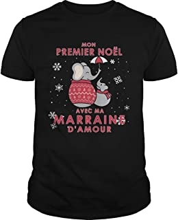 Elephant Mon Premier Noel Avec Ma Marraine Damour Shirt-T Shirts Teens-Gifts For Mom-Gift For Brother-Gifts For Her