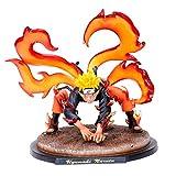 FZWAI Juguetes de anime Naruto Ninja Figurita Muye GK nueve cola de zorro y Naruto modo inmortal figurines 20 cm de altura animado estatua de la figura de acción de PVC figura estatua figura coleccion