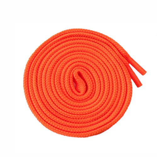 McLaces 1 Paar Schnürsenkel 21 Farben auch Neon ideal für Sneaker und Chucks Flachsenkel (neon-orange)