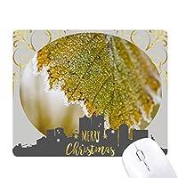 柔らかい葉植物の性質 クリスマスイブのゴムマウスパッド