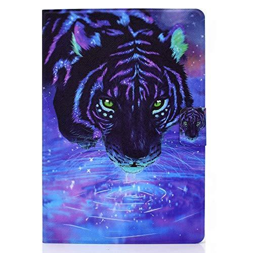 JIan Ying Funda para Samsung Galaxy Tab A6 10.1' SM-T580 T585 Slim Ligero Peint Protector Cover Star Tiger