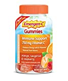 Emergen-C 750mg Vitamin C Gummies for Adults, Immune Support Gummies with B Vitamins, Gluten Free, Orange, Tangerine and Raspberry Flavors - 63 Count