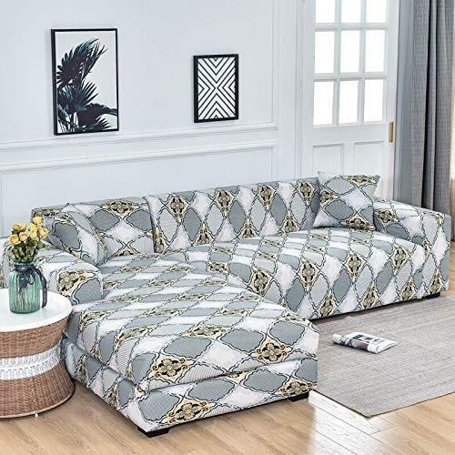Fundas de sofá elásticas para Sala de Estar Funda de sofá elástica para sillón Funda para sofá Chaise Lounge A19 3 plazas