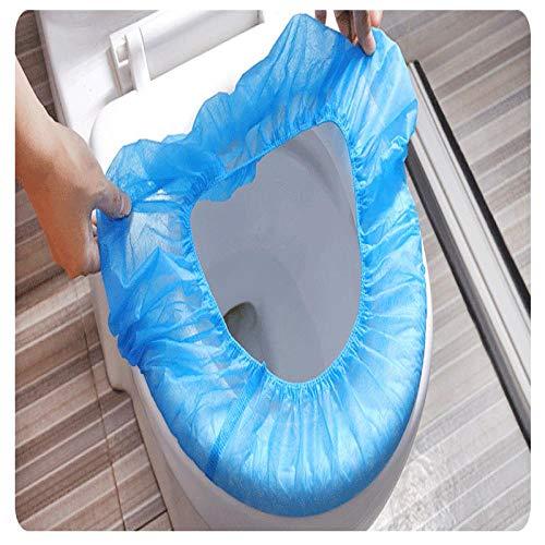 muck 100 Stück wasserdichte Disposable Toilet Cover WC Sitzschutz Sitzauflagen Toilettenbrillen Auflagen Brillenschutz Anti Bakterien für Hotel Outdoor Reisen Universal Toilettensitz Blau.
