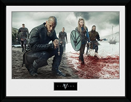 1art1® Vikingos - Blood Landscape Póster De Colección Enmarcado (40 x 30cm)