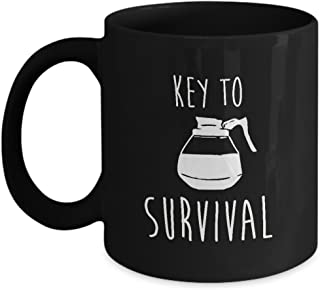 Key To Survival Coffee Pot Mug Lover
