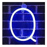 Azul Letreros de neón Luz nocturna Luces LED de marquesina Arte de neón Luces decorativas Decoración de pared para niños Habitación para bebés Decoración de banquete de boda de Navidad (Q)