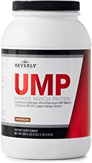 Beverly International UMP Protein Powder 30 servings, Chocolate. Unique whey-casein ratio builds lean muscle and burns fat for hours. Easy to digest. No bloat. (32.8 oz) 2lb .8 oz