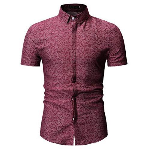RelaxLife Camisa de Manga Corta para Hombre Camisa De Verano para Hombre, Estampado A Cuadros De Moda, Camisa De Manga Corta Informal para Hombre, Ropa De Hombre De Marca De Gran Tamaño, Camisa De H
