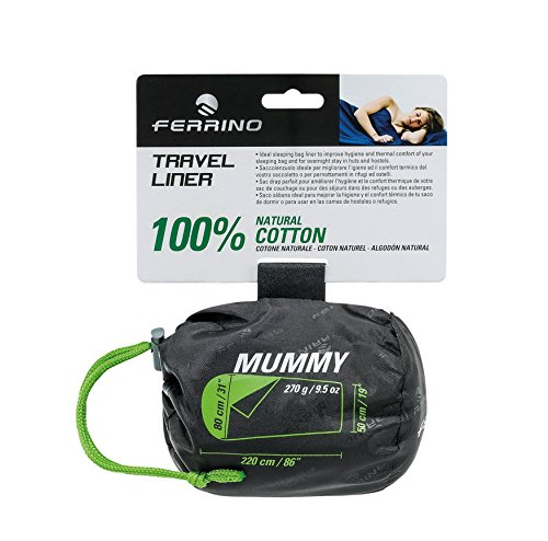 Ferrino SLEEPINGBAG Sheet Travel Mummy Saco de Dormir Tiempo