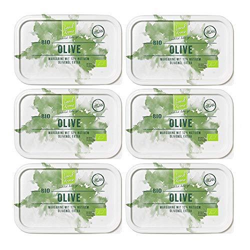 Landkrone Bio Oliven Margarine, 6 x 250 g