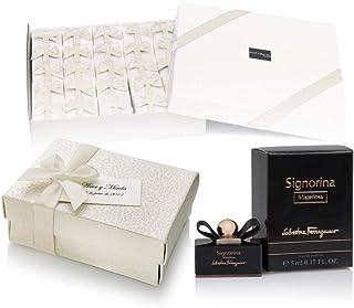 NUPTALIA Pack 20 Mini perfumes de Mujer como Detalles de Boda para Invitados Ferragamo Signorina Misteriosa Eau de Parfum ...