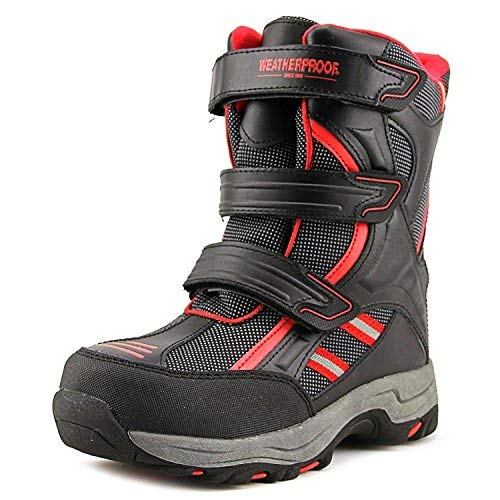 Weatherproof Boys Snow Boots with Multi Hook & Loop Strap Closures (Kody) All-Weather Insulated Winter Boots Built for Comfort, Durability - Keeps Feet Warm & Dry