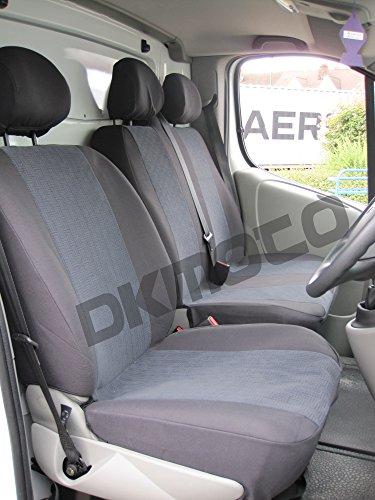 Opel Vivaro 2+1 vanaf 2001 op maat gemaakte stoelhoezen stoelbekleding stoelhoezen stoelhoezen