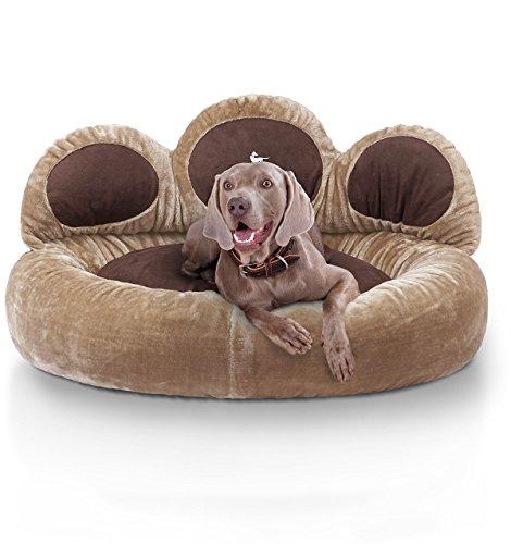 Knuffelwuff 12753 Pfoten Hundebett Luena - Größe XL, 95 cm, braun