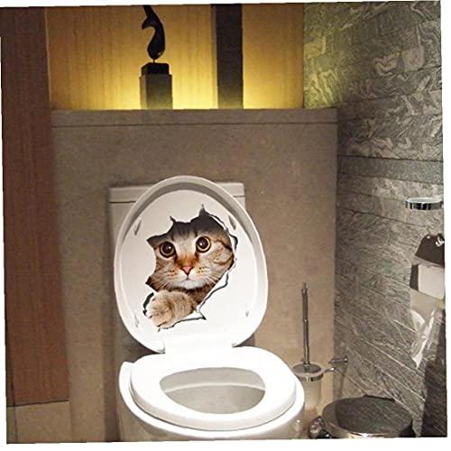 TOSSPER 3D Etiquetas Engomadas del Gato, Aseo Pegar La Cubierta Pegatinas Pegatinas Arte De Pared Nevera Toile Tdecorative, 21 * 29cm