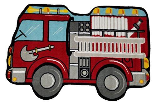 "Fun Rugs Fun Time Shape Fire Engine Home Decorative Accent Area Rug 31""X47"""