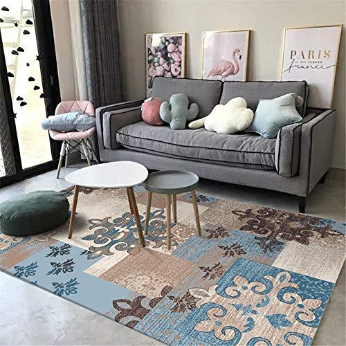 Dormitorio Infantil Alfombra despacho Alfombra de Sala de Estar Azul Gris rectángulo...