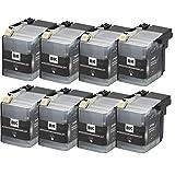 LC545 LC549XL Cartucho de tinta, cartuchos de tinta de alto rendimiento compatibles con Brother DCP-J100 DCP-J105 MFC-J200 (paquete de 4) negro x 8