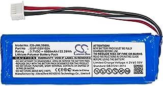 CameronSino Li-Polymer Battery for JBL Charge 3 GSP1029102A Bluetooth Speaker Battery 3.70V 6000mAh / 22.20Wh