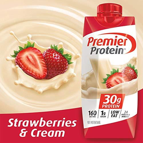 Premier Protein 30g Protein Shakes, Strawberries & Cream