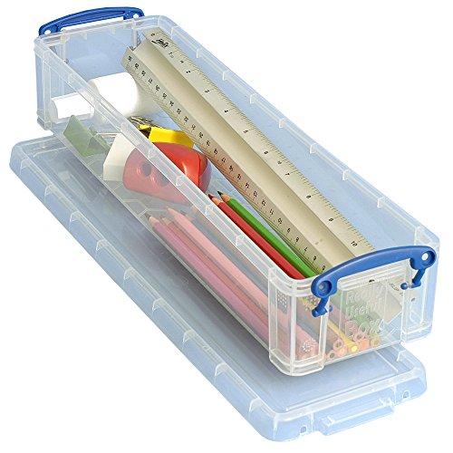 Really Useful Bleistift- und Schreibwarenbox, durchsichtig, 1,5 l
