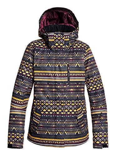 Roxy Damen Snow Jacke Jetty - Snow Jacke, true black new geometric, L, ERJTJ03207