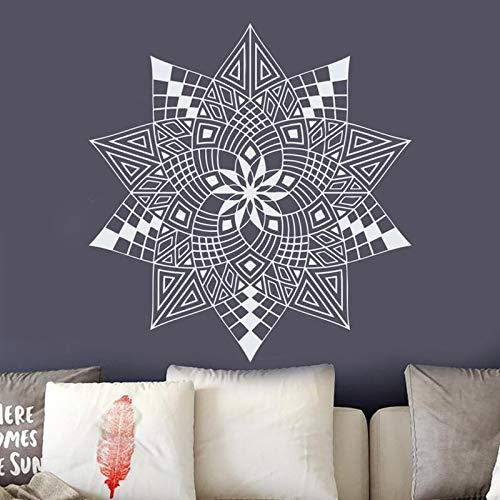 wopiaol Mandala Flower Yoga Wandtattoo PVC Wandaufkleber Home Interior Schlafzimmer Nachttisch 57x57cm