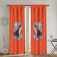 アベンジャーズ Thor2 カーテン 幅132×丈183cm 2枚 1級 遮光カーテン おしゃれ 個性 デザイン かわいい 防寒 断熱 寝室 カーテン