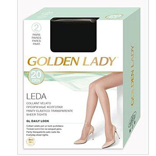 GOLDEN LADY COLLANT LEDA 20 DENARI TAGLIA 2 COLORE MELON 2 PAIA