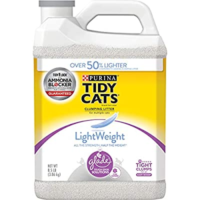 Purina Tidy Cats Light Weight, Low Dust, Clumping Cat Litter, LightWeight Glade Clean Blossoms Multi Cat Litter - (2) 8.5 lb. Jugs