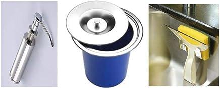 Lixeira Embutir 5 L + Dosador Suporte Inox + Suporte Bucha
