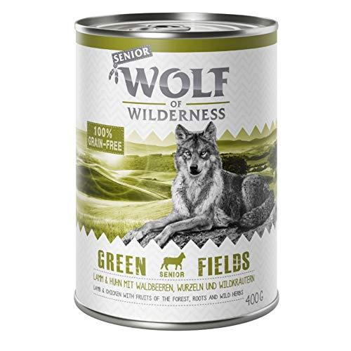 Wolf of Wilderness Senior Sparpack 24 x 400 g – gemischte Packung