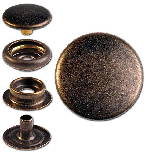 30 schraubnieten cinturón tornillos libro tornillos chicago screws plata-antiguo 5mm