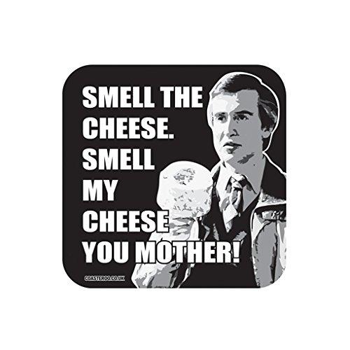 Coasteroo Imán para Nevera, Diseño con Texto en Inglés MY Cheese You Mother Alan Partridge – 57 mm x 57 mm – Acabado Brillante – TV/televisor