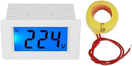 Digital Display Voltmeter, Digital Ammeter, White for Distribution Cabinet Voltage(Single display white shell)