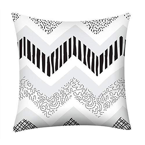 GDBEST Decorative Pillow Cover Irregular Geometric Pillow Cases Modern Square Throw Waist Polyester Pillowcase for Sofa Bedroom Chair Car Seat Home Decor Cushion Cover (18' x 18')