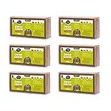 Fibra DE Coco 6 x 650g (9L) | ORGÁNICO | 100% Natural | NO DAÑINA para Reptiles | Medio DE Cultivo | Coco para PLANTACIONES | SUSTRATO DE Coco | BRIQUETAS COMPRIMIDAS DE Coco Ladrillos Coconut & Coir