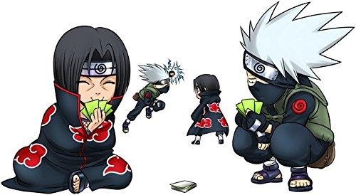 T-Shirt Noir Naruto parodique Kakashi et Itachi : Clones no Jutsu : (Parodie Naruto)