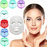 xuehaostore 7 Couleur Masque de Luminothérapie LED Photon, rajeunissement beauté de Masque Facial, Soin Visage Anti-Rides Anti-acné Masque de beauté